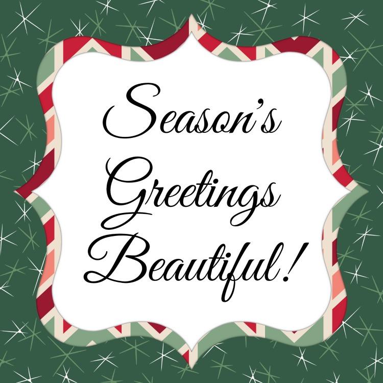 Seasons Greetings Beautiful Tag